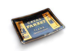 Cenicero vintage de aluminio Cavas Parxet, Tiana