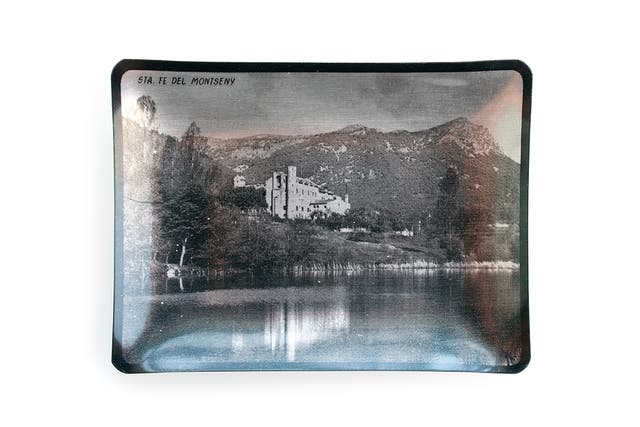 Cenicero vintage de aluminio Santa Fe del Montseny