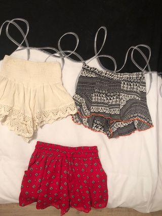 Lote 3 pantalones cortos