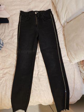 pantalones largos altos con brillante