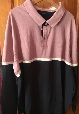 Polo rosa y negro Hombre talla 6xl Kiabi nuevo