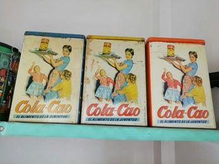 Cajas metálicas vintage de Cola Cao