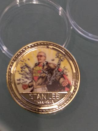 moneda conmemorativa Stan Lee