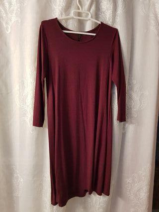 Vestido color vino M