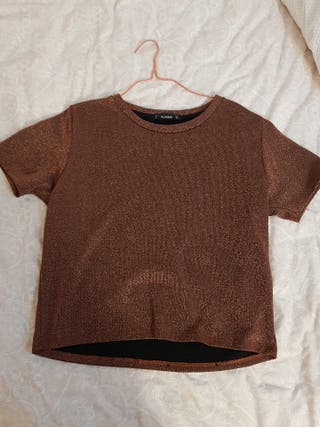 blusa brillantes L Pull and bear