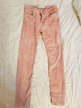 pantalon rosado 36 Zara