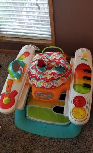 bundle of baby play things
