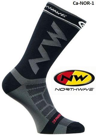 Calcetines ciclismo / running Nortwave gris/negro