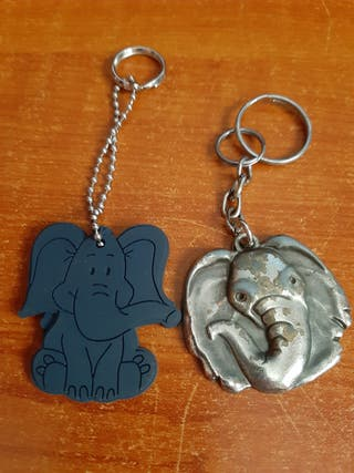 2 Llaveros Animal Elefantes