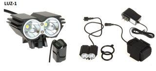 Foco Luz ciclismo 5000 lumens + bateria + cargador