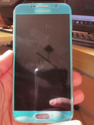 Samsung S6 azul celeste