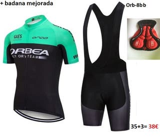 Equipación ciclism Orbea-8bb t.L + badana mejorada
