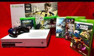 Xbox One S fifa 17+5 juegos