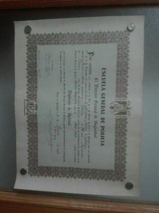 Inspector de Primera. 1943. Diploma.