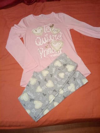 Conjunto niña camiseta+malla SIN ESTRENAR
