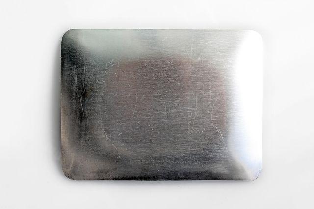 Cenicero vintage de aluminio, publicidad Perflex