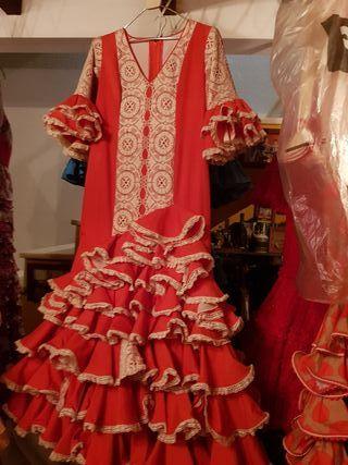 f6d4da0f6b Traje flamenca volantes de segunda mano en WALLAPOP
