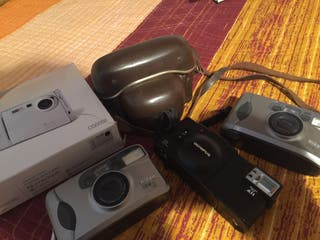 Varias cámaras de fotos