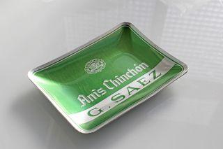 Cenicero vintage, publicidad Anis Chinchón G. Saez