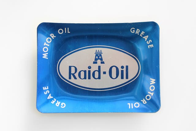 Cenicero publicidad Raid Oil, Grease, Motor Oil