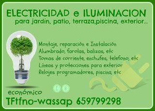 ELECTRICIDAD-ILUMINACION patio-jardin