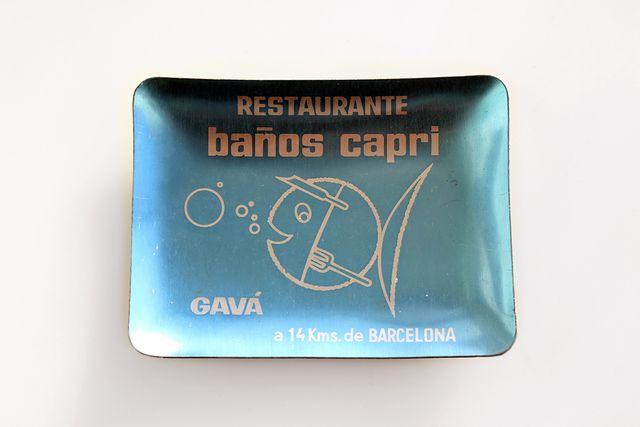 Cenicero Restaurante Baños Capri, Gavá, Barcelona