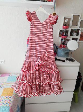 bdc9be9ed Traje flamenca niña de segunda mano en Huelva en WALLAPOP