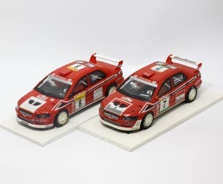 2 x Mitsibishi Lancer Evo McRae/Makinen Scalextric