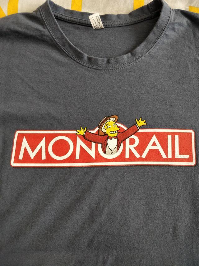 Camiseta azul Monorail Simpsons