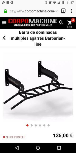 Barra Dominadas Apto Gimnasio Barbarian Line