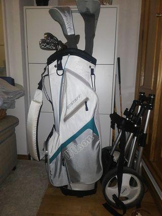 set de bolsa y palos de golf mujer.Wilson prostaff
