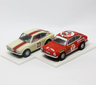 Lote 2 Seat 850 Coupe Altaya #23 y #52 Scalextric