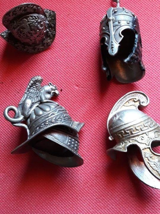 Cascos guerreros miniatura