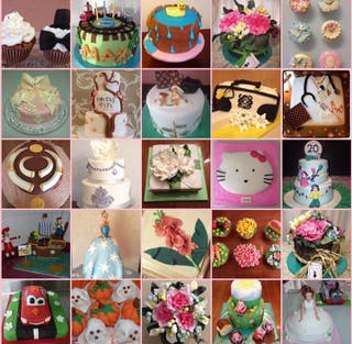 Tartas, cakes, galletas, cupcakes, mesas dulces