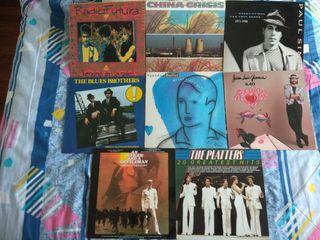 Lote de 8 álbumes de vinilo_Pop-Rock