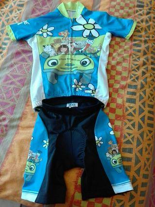 Maillot de ciclismo niña 4-5 años