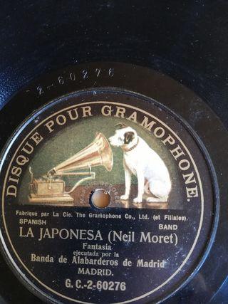La japonesa. Moret. Disco pizarra para gramófono.