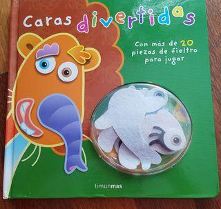 Libro infantil caras divertidas