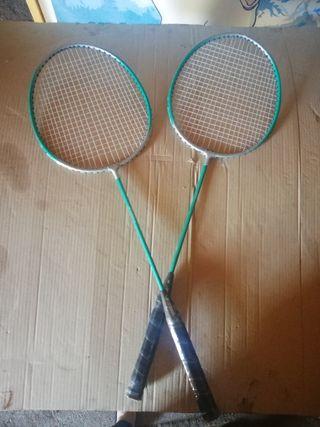 Raquetas de badminton.