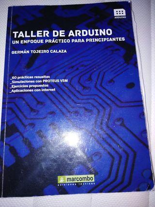 libro taller de Arduino más material de Arduino