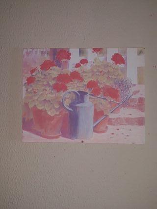 Cuadro de macetas con flores