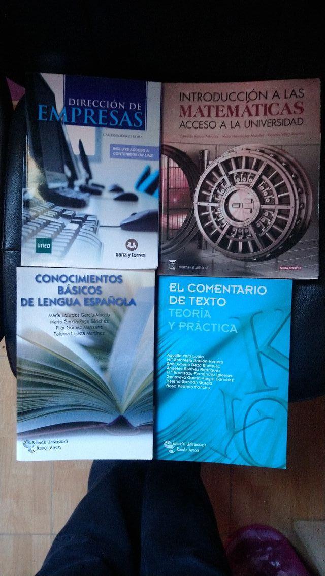 Libros prueba de acceso mayores de 25 años UNED
