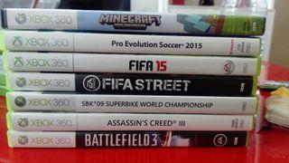Lote 7 Juegos Xbox 360