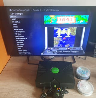 Consola Xbox con juegos