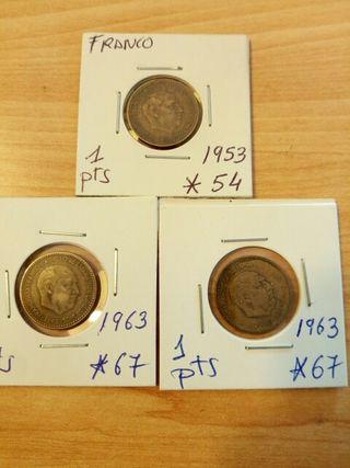 monedas antiguas franco