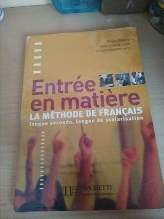 Libro Francés ENTRÉE EN MATIÈRE