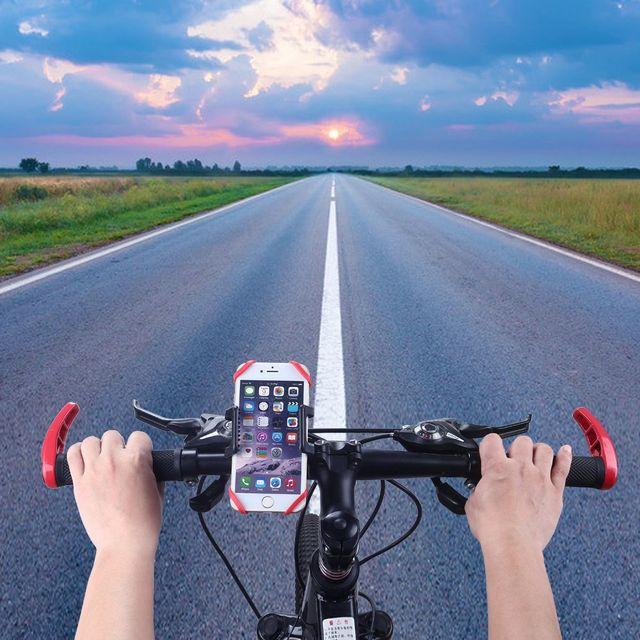 Soporte de móvil para manillar de bicicleta