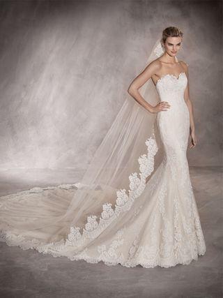 49001ff9a Vestido de novia Pronovias de segunda mano en Madrid en WALLAPOP