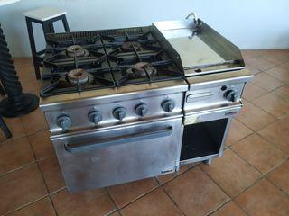 hornilla y horno y plancha de cromo