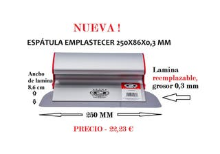 ESPÁTULA PARA EMPLASTECER 250X86X0,3 MM